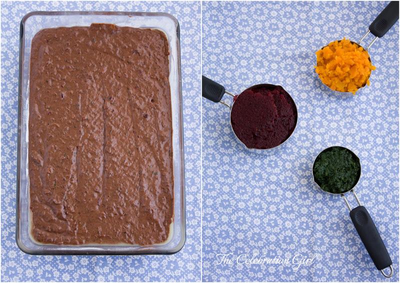 Hidden veggies chocolate cake and frosting